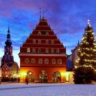 christmas market in oldtown Greifswald